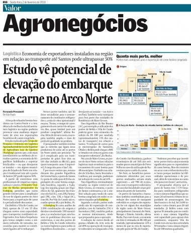 Estudo realizado pelo ESALQ-LOG identifica elevação do potencial do Arco Norte para embarque de carne