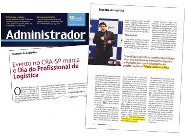 Revista do CRA-SP destaca a participação do Coordenador do Grupo ESALQ-LOG em evento do Dia do Profissional de Logística