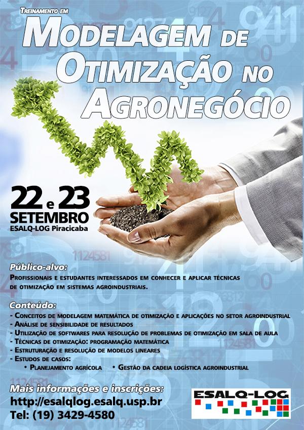 Treinamento em Modelagem de Otimização no Agronegócio acontece em setembro no ESALQ-LOG